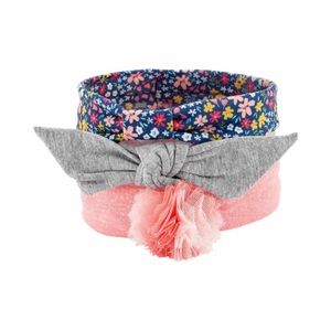 CARTER'S Baby Girl 3-Pack Plume Knot Headwraps